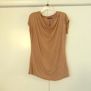 Gold shimmery short-sleeve top